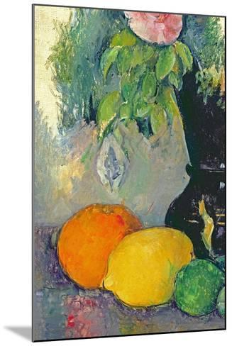 Flowers and Fruits, C.1880-Paul C?zanne-Mounted Giclee Print