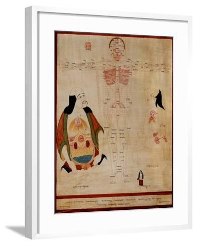 Manuscript Showing the Meridian Points--Framed Art Print