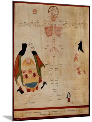 Manuscript Showing the Meridian Points--Mounted Giclee Print