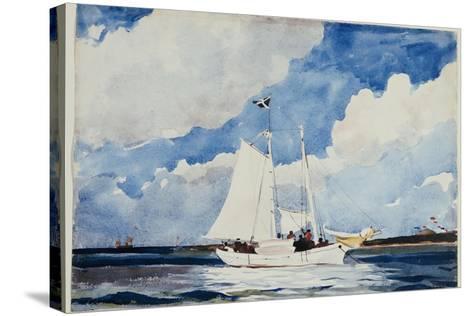 Fishing Schooner, Nassau, C.1898-99-Winslow Homer-Stretched Canvas Print
