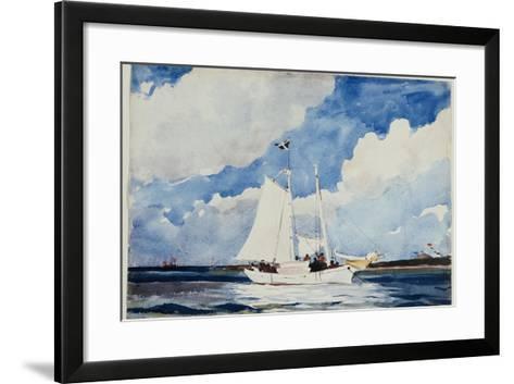 Fishing Schooner, Nassau, C.1898-99-Winslow Homer-Framed Art Print