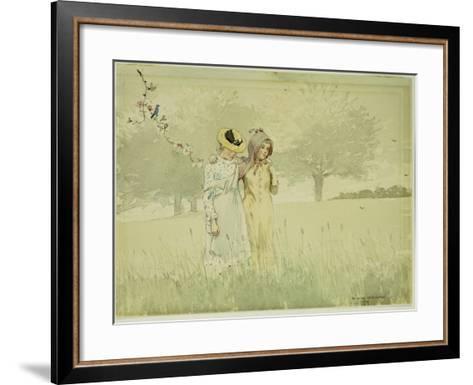 Girls Strolling in an Orchard, 1879-Winslow Homer-Framed Art Print