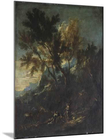 A Mountain Landscape with Pastoral Figures-Alessandro Magnasco-Mounted Giclee Print