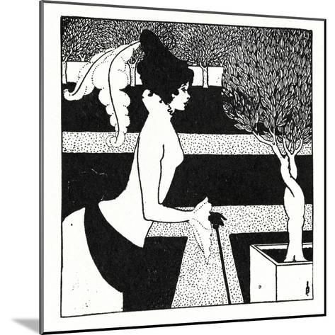 Title Page Ornament for 'The Yellow Book', Volume II, July, 1894, 1899-Aubrey Beardsley-Mounted Giclee Print