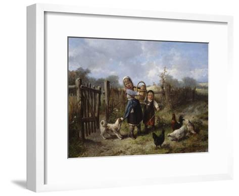 An Arbitary Dog-Jan Mari Henri Ten Kate-Framed Art Print