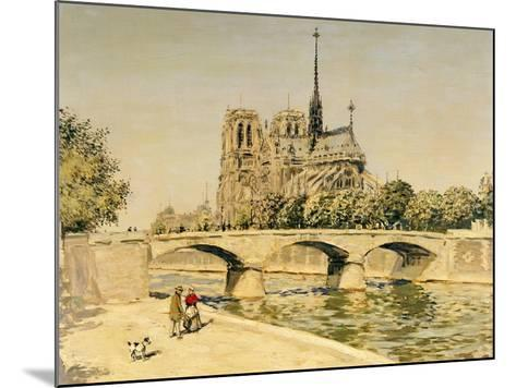 Notre Dame and the Seine-Jean Francois Raffaelli-Mounted Giclee Print