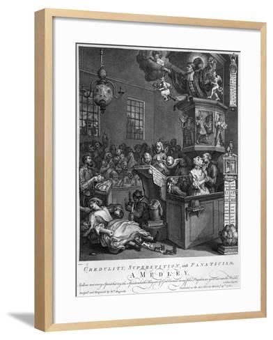 Credulity, Superstition and Fanaticism, 1762-William Hogarth-Framed Art Print