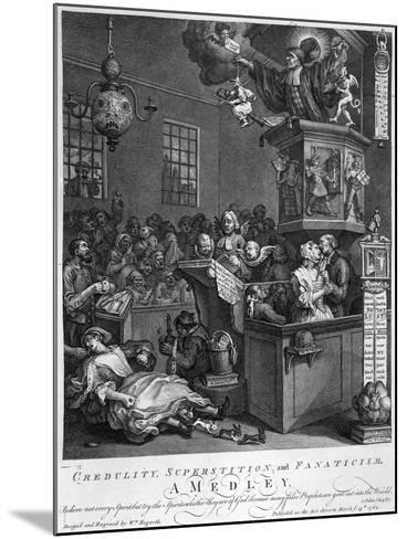 Credulity, Superstition and Fanaticism, 1762-William Hogarth-Mounted Giclee Print