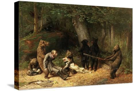 Making Game of the Hunter, 1880-William Holbrook Beard-Stretched Canvas Print