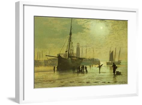 The Lighthouse at Scarborough, 1877-John Atkinson Grimshaw-Framed Art Print