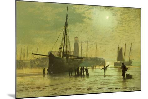 The Lighthouse at Scarborough, 1877-John Atkinson Grimshaw-Mounted Giclee Print