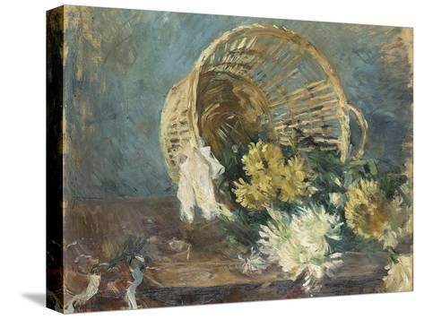 Chrysanthemums or the Overturned Basket, 1885-Berthe Morisot-Stretched Canvas Print