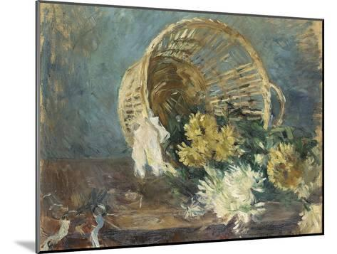 Chrysanthemums or the Overturned Basket, 1885-Berthe Morisot-Mounted Giclee Print