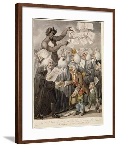 The First Day of Term - or the Devil Among Lawyers-Robert Dighton-Framed Art Print