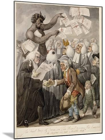 The First Day of Term - or the Devil Among Lawyers-Robert Dighton-Mounted Giclee Print