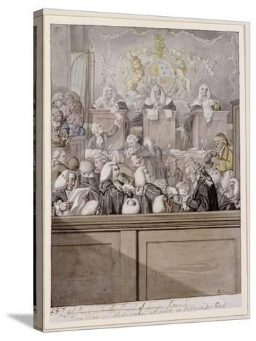 Term Time - or the Lawyers All Alive in Westminster Hall-Robert Dighton-Stretched Canvas Print