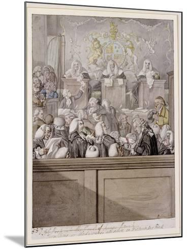 Term Time - or the Lawyers All Alive in Westminster Hall-Robert Dighton-Mounted Giclee Print