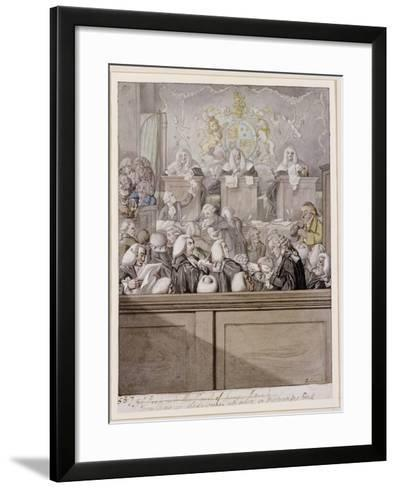 Term Time - or the Lawyers All Alive in Westminster Hall-Robert Dighton-Framed Art Print