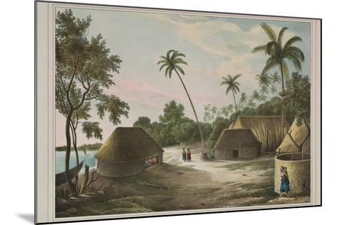 The House of the Tamaha, Moua, Tonga, 1830-Louis Auguste de Sainson-Mounted Giclee Print