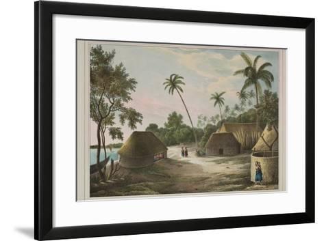 The House of the Tamaha, Moua, Tonga, 1830-Louis Auguste de Sainson-Framed Art Print
