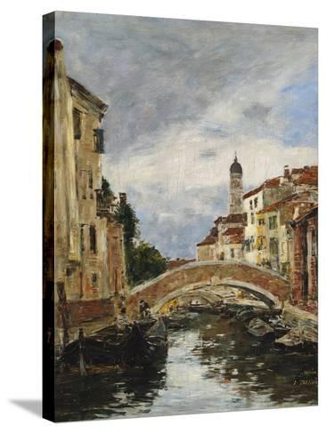 A Small Venetian Canal, 1895-Eug?ne Boudin-Stretched Canvas Print