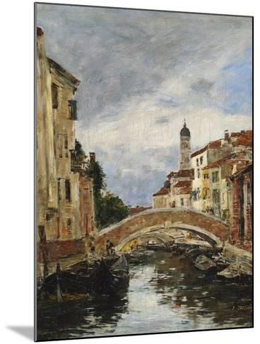 A Small Venetian Canal, 1895-Eug?ne Boudin-Mounted Giclee Print