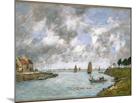 The Mouth of the River Somme, St. Valery-Sur-Somme, 1891-Eug?ne Boudin-Mounted Giclee Print