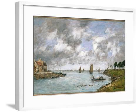 The Mouth of the River Somme, St. Valery-Sur-Somme, 1891-Eug?ne Boudin-Framed Art Print