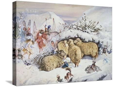 Fairies in the Snow-John Anster Fitzgerald-Stretched Canvas Print
