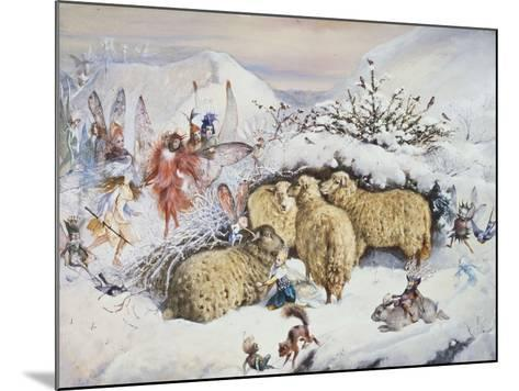 Fairies in the Snow-John Anster Fitzgerald-Mounted Giclee Print