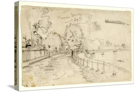 Thames at Barnes, 1886-John Atkinson Grimshaw-Stretched Canvas Print