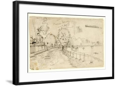 Thames at Barnes, 1886-John Atkinson Grimshaw-Framed Art Print