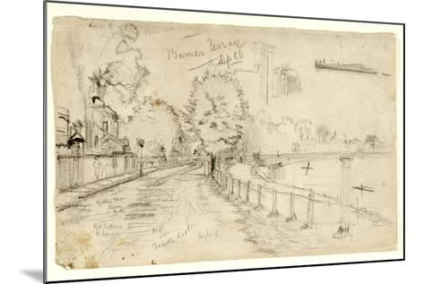 Thames at Barnes, 1886-John Atkinson Grimshaw-Mounted Giclee Print