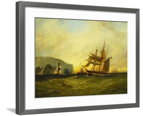 Off the Needles, Isle of Wight, 1899-George Gregory-Framed Art Print