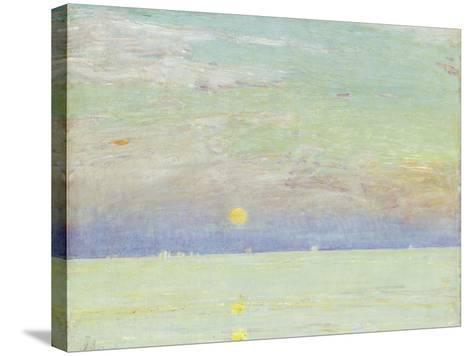 Moonrise at Sunset, Cape Ann, 1892-Childe Hassam-Stretched Canvas Print