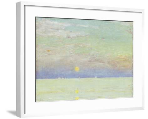 Moonrise at Sunset, Cape Ann, 1892-Childe Hassam-Framed Art Print