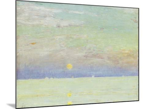 Moonrise at Sunset, Cape Ann, 1892-Childe Hassam-Mounted Giclee Print