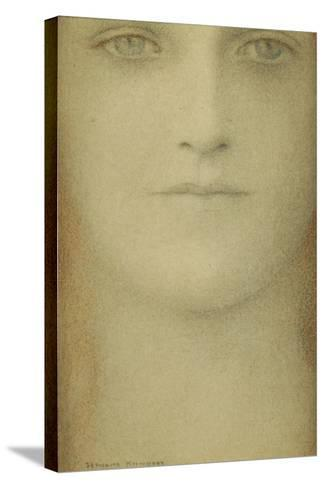 Study of a Woman, 1890-Fernand Khnopff-Stretched Canvas Print