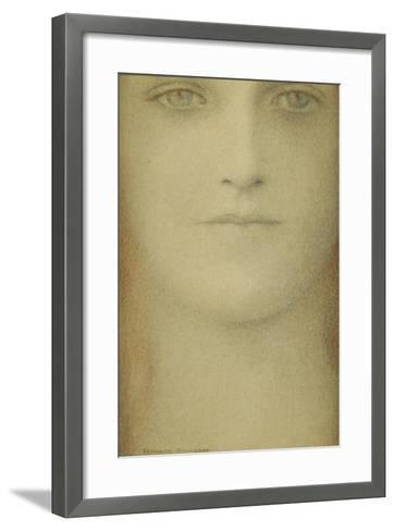 Study of a Woman, 1890-Fernand Khnopff-Framed Art Print