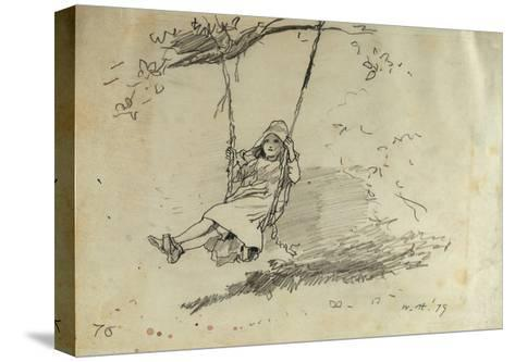 Girl on a Swing, 1879-Winslow Homer-Stretched Canvas Print