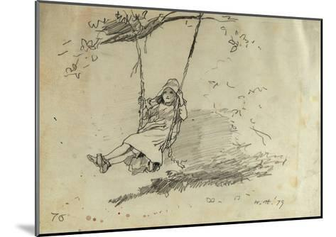 Girl on a Swing, 1879-Winslow Homer-Mounted Giclee Print