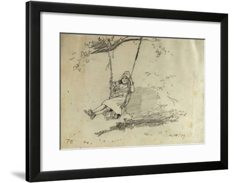 Girl on a Swing, 1879-Winslow Homer-Framed Art Print