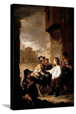 Saint Thomas of Villanueva Dividing His Clothes Among Beggar Boys, C.1667-Bartolome Esteban Murillo-Stretched Canvas Print
