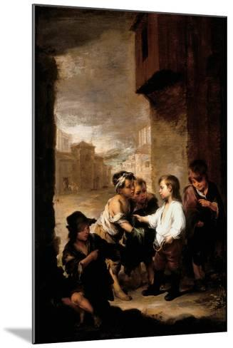 Saint Thomas of Villanueva Dividing His Clothes Among Beggar Boys, C.1667-Bartolome Esteban Murillo-Mounted Giclee Print