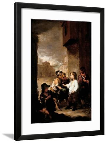Saint Thomas of Villanueva Dividing His Clothes Among Beggar Boys, C.1667-Bartolome Esteban Murillo-Framed Art Print