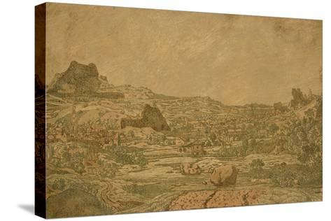 Town with Four Towers, C.1631 or Later-Hercules Segers-Stretched Canvas Print