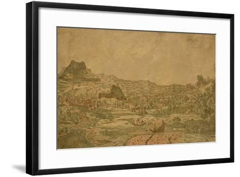 Town with Four Towers, C.1631 or Later-Hercules Segers-Framed Art Print