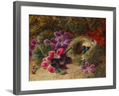 A Bird's Nest and Geraniums-Oliver Clare-Framed Art Print