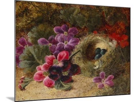 A Bird's Nest and Geraniums-Oliver Clare-Mounted Giclee Print