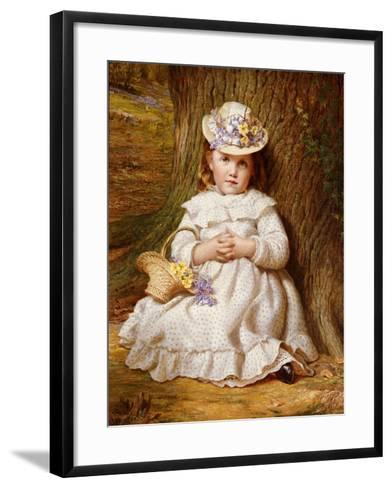 Primroses and Bluebells-Samuel Sidley-Framed Art Print